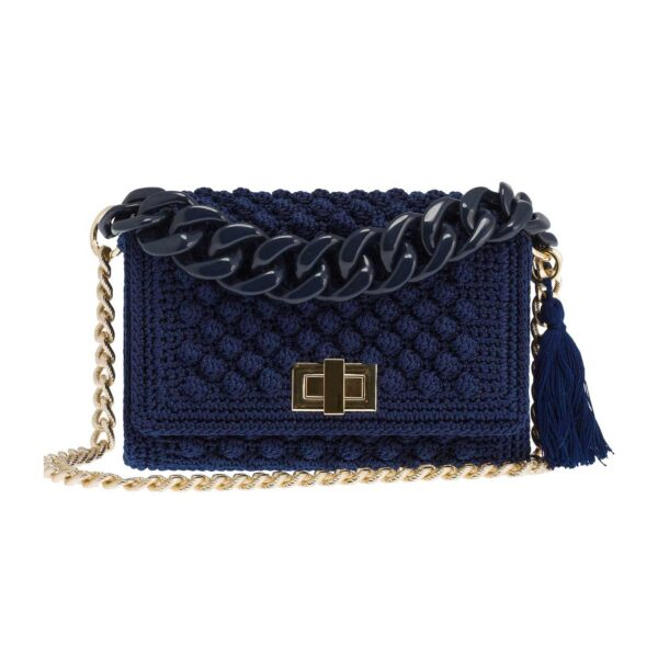 Ddora Leto handbag navy blue front