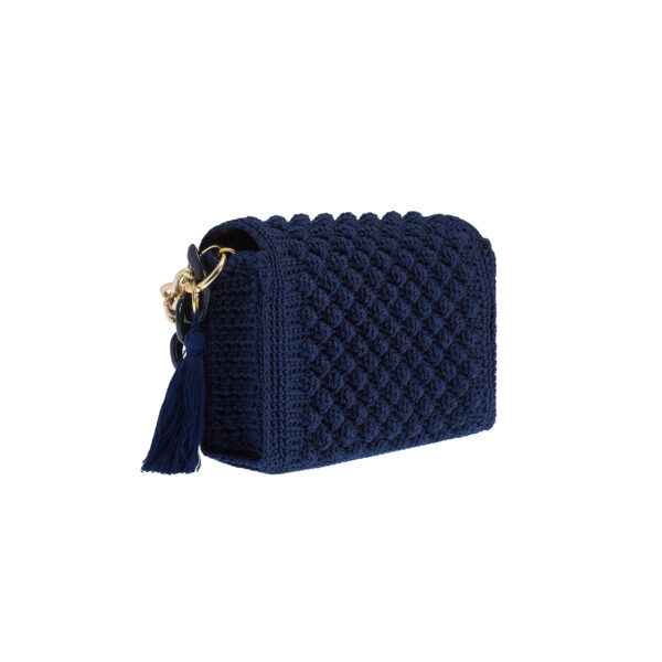 Ddora Leto handbag navy blue back