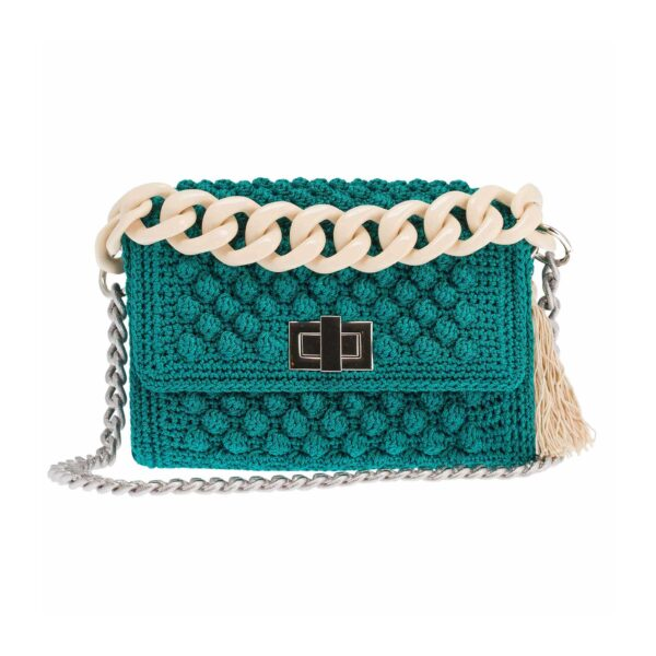 Ddora Leto handbag bright green front