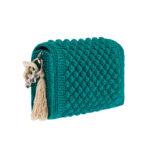 Ddora Leto handbag bright green back