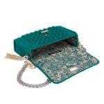 Ddora Leto handbag bright green opened