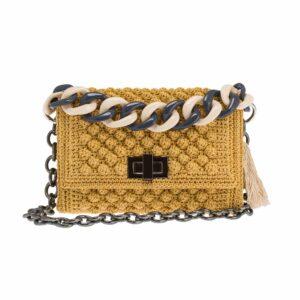 Ddora Leto handbag golden ochre front