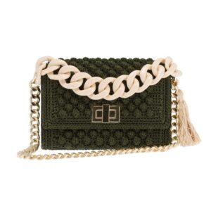 Ddora Leto handbag olive green front