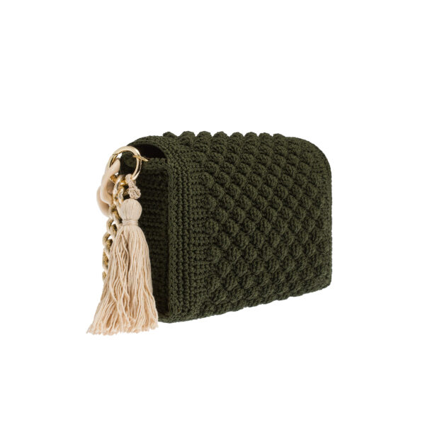 Ddora Leto handbag olive green back