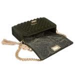 Ddora Leto handbag olive green opened