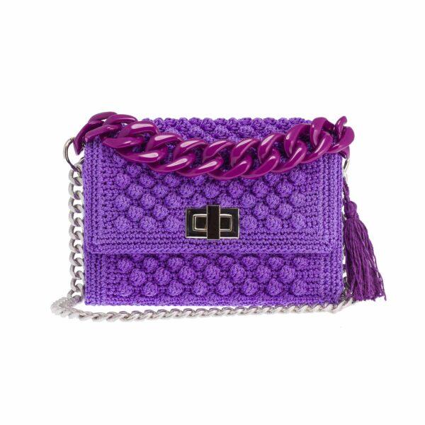 Ddora Leto handbag purple front