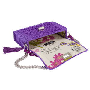 Ddora Leto handbag purple opened
