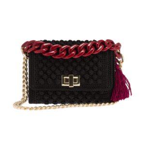 Ddora Leto handbag black front