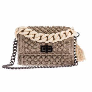 Ddora Leto handbag sand beige front
