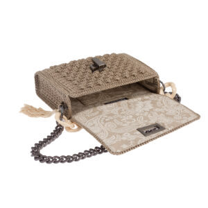 Ddora Leto handbag sand beige opened