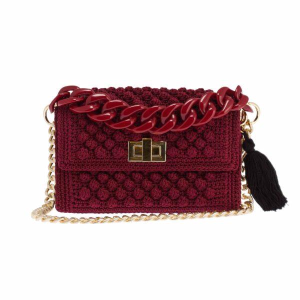 Ddora Leto handbag burgundy front