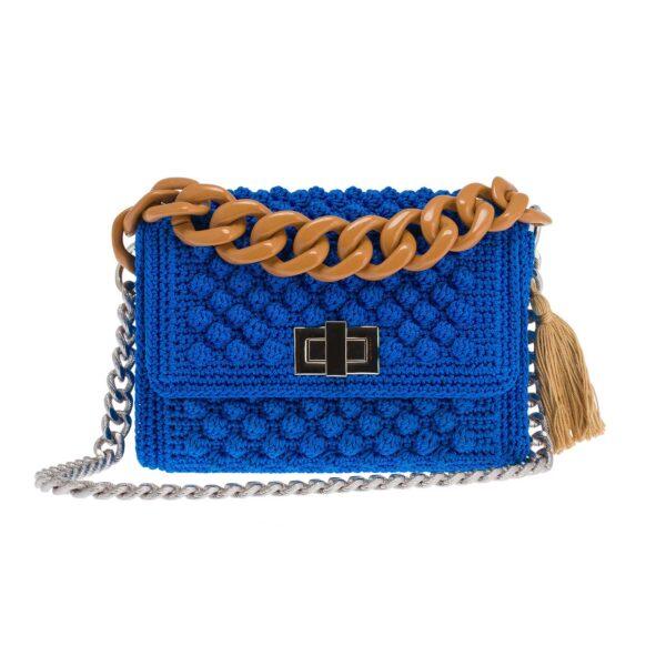 Ddora Leto handbag royal blue front