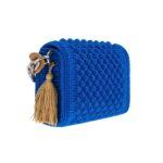 Ddora Leto handbag royal blue back