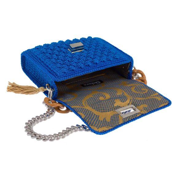 Ddora Leto handbag royal blue opened