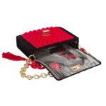 Ddora Harmony handbag black-red opened