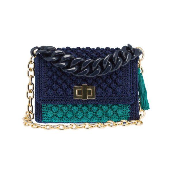 Ddora Harmony handbag blue-bright green front