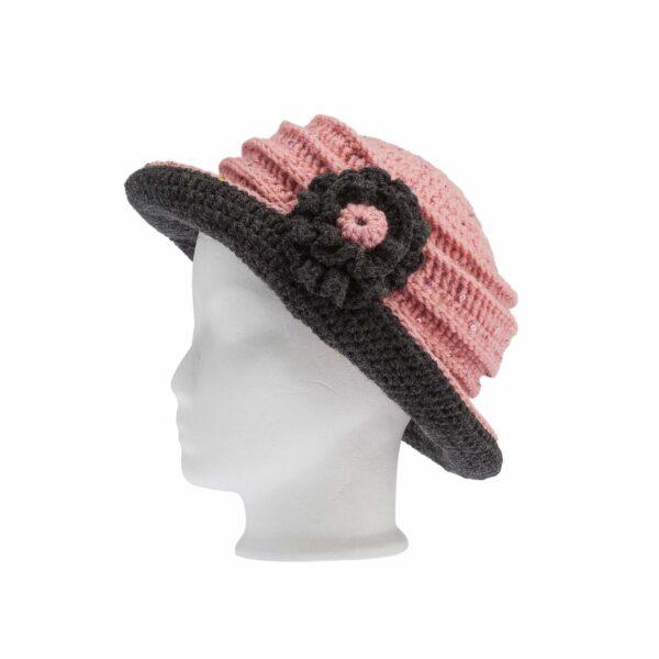 Ddora crochet hat pink nude