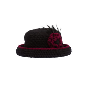 Ddora crochet hat black