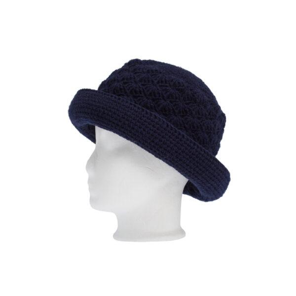 Ddora crochet hat navy blue