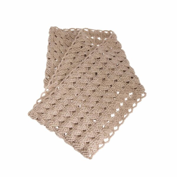 Ddora double scarf neck beige