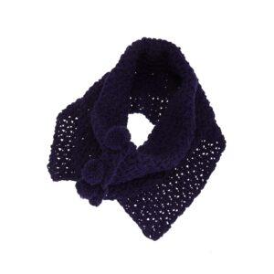 Ddora handmade scarf neck navy blue