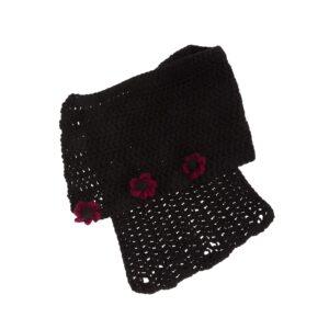 Ddora handmade scarf neck black