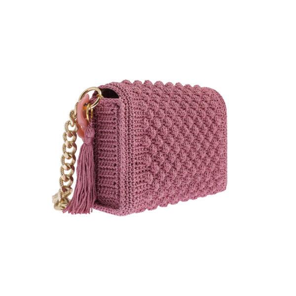 Ddora Leto handbag pink nude back