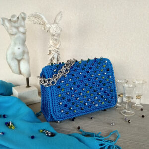 Ddora handmade handbag adorned with crystal beads