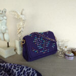 Ddora handmade handbag adorned with crystal beads